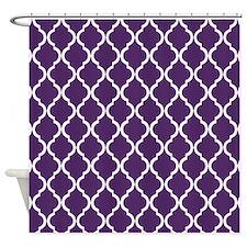 Violet Purple Moroccan Lattice Shower Curtain