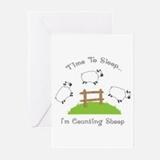 Time To Sleep Greeting Cards