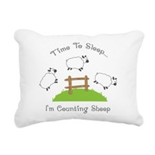 Time To Sleep Rectangular Canvas Pillow