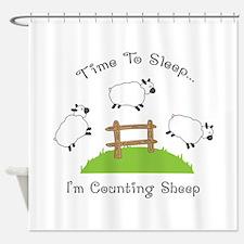 Time To Sleep Shower Curtain