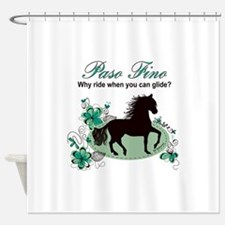 Cute Black horse Shower Curtain