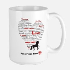 Paso Finos Have Heart Large Mug