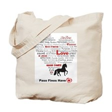 Paso Finos Have Heart Tote Bag