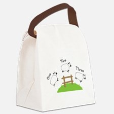 One Two Three Canvas Lunch Bag
