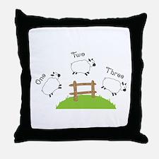 One Two Three Throw Pillow