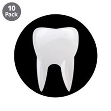 """Tooth 3.5"""" Button (10 pack)"""