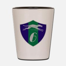 Graphic Racing Greyhound Dog Shield Number 6 Shot