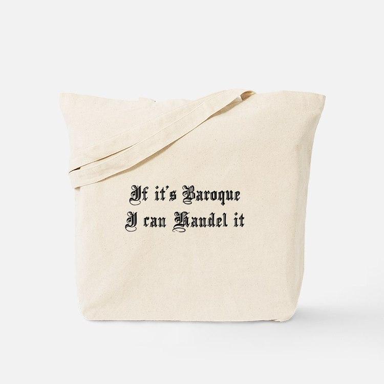Baroque Pun Tote Bag