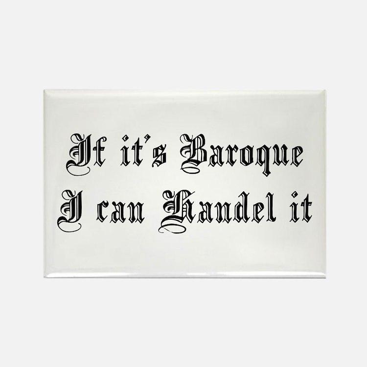 Baroque Pun Rectangle Magnet