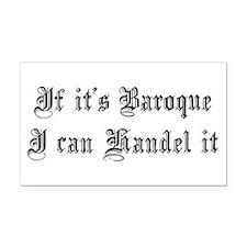 Baroque Pun Rectangle Car Magnet