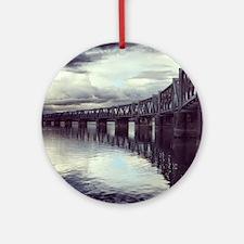 Bridge Reflection Round Ornament