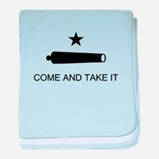 Come and Take It- Black baby blanket