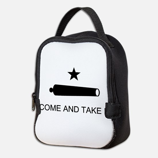 Come and Take It- Black Neoprene Lunch Bag