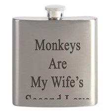 Monkeys Are My Wife's Second Love Flask
