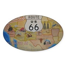 Route 66 Map Decal