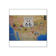"""Route 66 Map Square Sticker 3"""" x 3"""""""