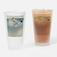 Boats on the Bay Drinking Glass