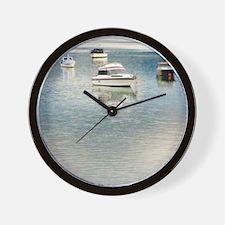 Boats on the Bay Wall Clock
