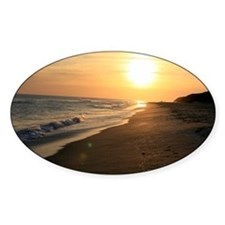 Romantic Colorful Sunset over Ocean Decal