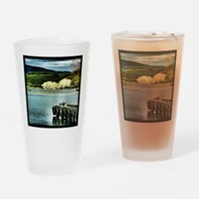 Lake Diver Drinking Glass