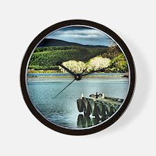 Lake Diver Wall Clock