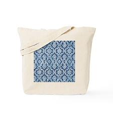 Sapphire Grunge Damask DESIGN Tote Bag