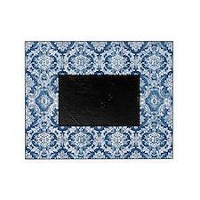 Sapphire Grunge Damask DESIGN Picture Frame