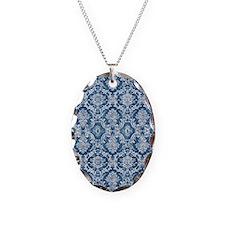 Sapphire Grunge Damask DESIGN Necklace