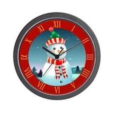 Cute Happy new year merry christmas Wall Clock