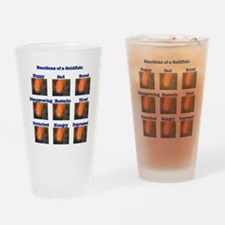 Goldfish Emotions Drinking Glass