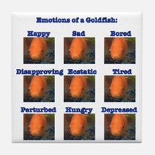Goldfish Emotions Tile Coaster
