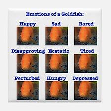 Goldfish Emotions Tile Coaster