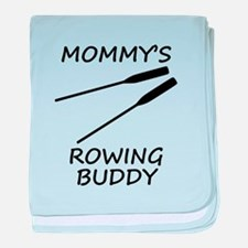 Mommys Rowing Buddy baby blanket