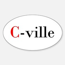C-ville Oval Decal