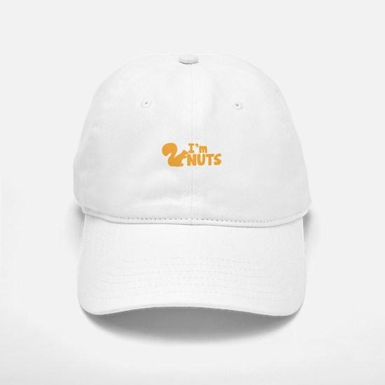 Im NUTS! with cute little squirrel Baseball Baseball Cap