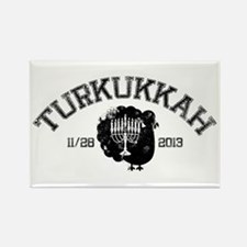 Distressed Turkukkah Rectangle Magnet