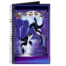 Orca Christmas Oval Journal