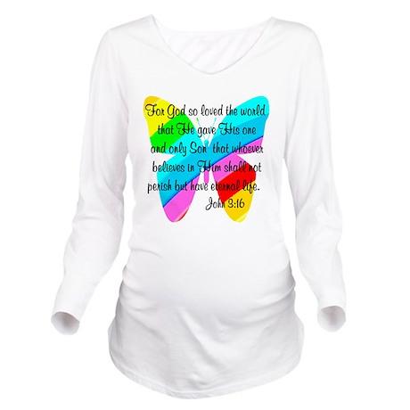 JOHN 3:16 Long Sleeve Maternity T-Shirt