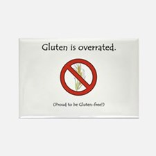 """""""Gluten is overrated."""" Rectangle Magnet"""