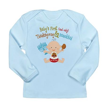 1st Thanksgiving Hanukkah Long Sleeve Infant T-Shi