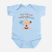 1st Thanksgiving Hanukkah Infant Bodysuit