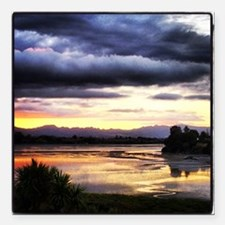 "Beautiful New Zealand –  Square Car Magnet 3"" x 3"""
