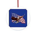 American Patriotism Ornament (Round)