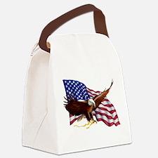 American Patriotism Canvas Lunch Bag