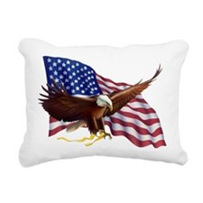 American Patriotism Rectangular Canvas Pillow