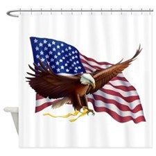 American Patriotism Shower Curtain