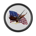 American Patriotism Large Wall Clock