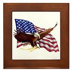 American Patriotism Framed Tile