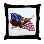 American Patriotism Throw Pillow