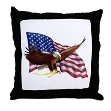 American Patriotism Throw Pillow